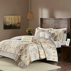Madison Park 6 pc Sabina Microfiber Quilted Coverlet Set
