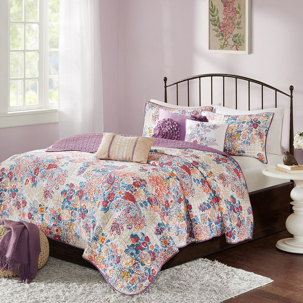 Madison Park 6-piece Raylene Quilted Coverlet Set