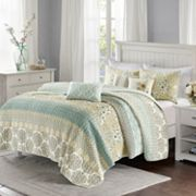 Madison Park 6 pc Felicity Quilted Coverlet Set