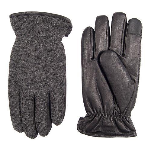Men's Dockers InteliTouch Wool-Blend Fleece-Lined Touchscreen Gloves