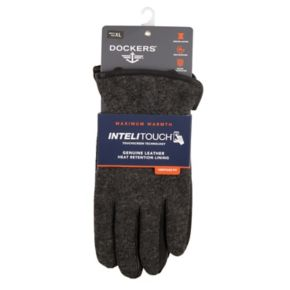 Men's Dockers InteliTouch Wool-Blend Fleece-Lined Touchscreen Gloves