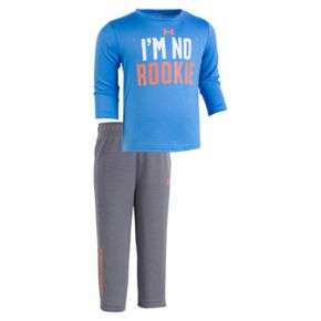 """Baby Boy Under Armour """"I'm No Rookie"""" Long-Sleeved Tee & Pants Set"""