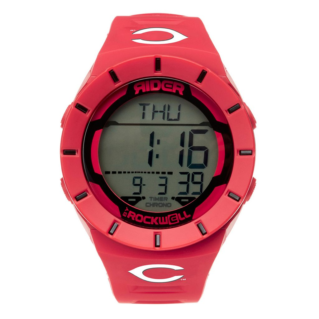Men's Rockwell Cincinnati Reds Coliseum Digital Watch