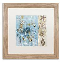 Trademark Fine Art Blue Crab II Distressed Framed Wall Art