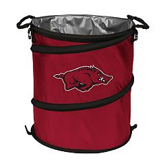 Logo Brands Arkansas Razorbacks Collapsible 3-in-1 Trashcan Cooler