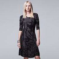 Women's Simply Vera Vera Wang Print Sweaterdress
