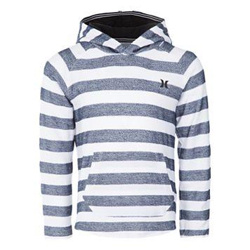 Boys 4-7 Hurley Herringbone Striped Pullover Hoodie
