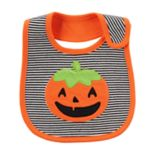 Baby Carter's Striped Pumpkin Bib