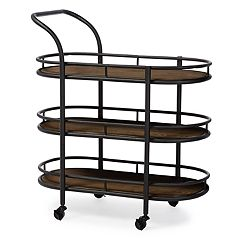 Baxton Studio Karlin Industrial Bar Cart