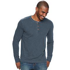 Men's SONOMA Goods for Life™ Slim-Fit Garment-Dyed Slubbed Henley