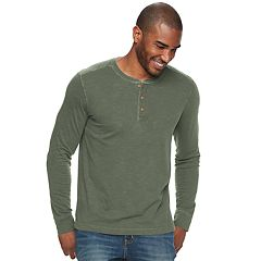 Men's SONOMA Goods for Life™ Slim-Fit Garment-Dyed Slubbed Henley