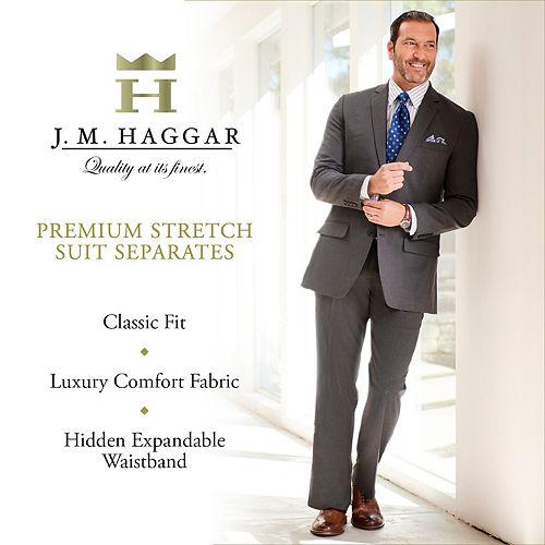 44aac7cac56 ... Sharkskin Classic Stretch Tall J m Suit Jacket Haggar fit Big amp   Premium fqHfU