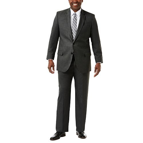 Big & Tall J.M. Haggar Premium Classic-Fit Sharkskin Stretch Suit Jacket