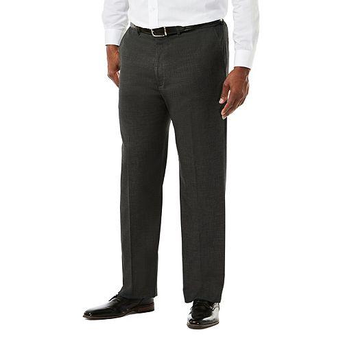 Big & Tall J.M. Haggar Premium Classic-Fit Sharkskin Stretch Flat-Front Suit Pants