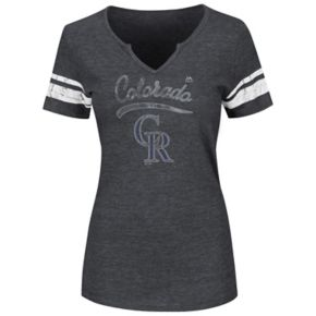 Women's Majestic Colorado Rockies Spirit Awareness Tee