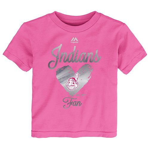 Baby Girl Majestic Cleveland Indians Autograph Tee