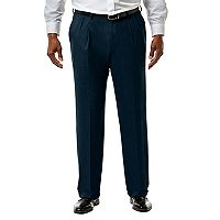 Big & Tall J.M. Haggar Premium Classic-Fit Sharkskin Stretch Pleated Suit Pants