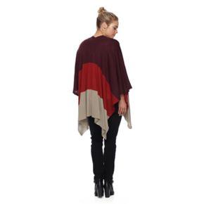 Apt. 9® Fine Knit Colorblock Ruana