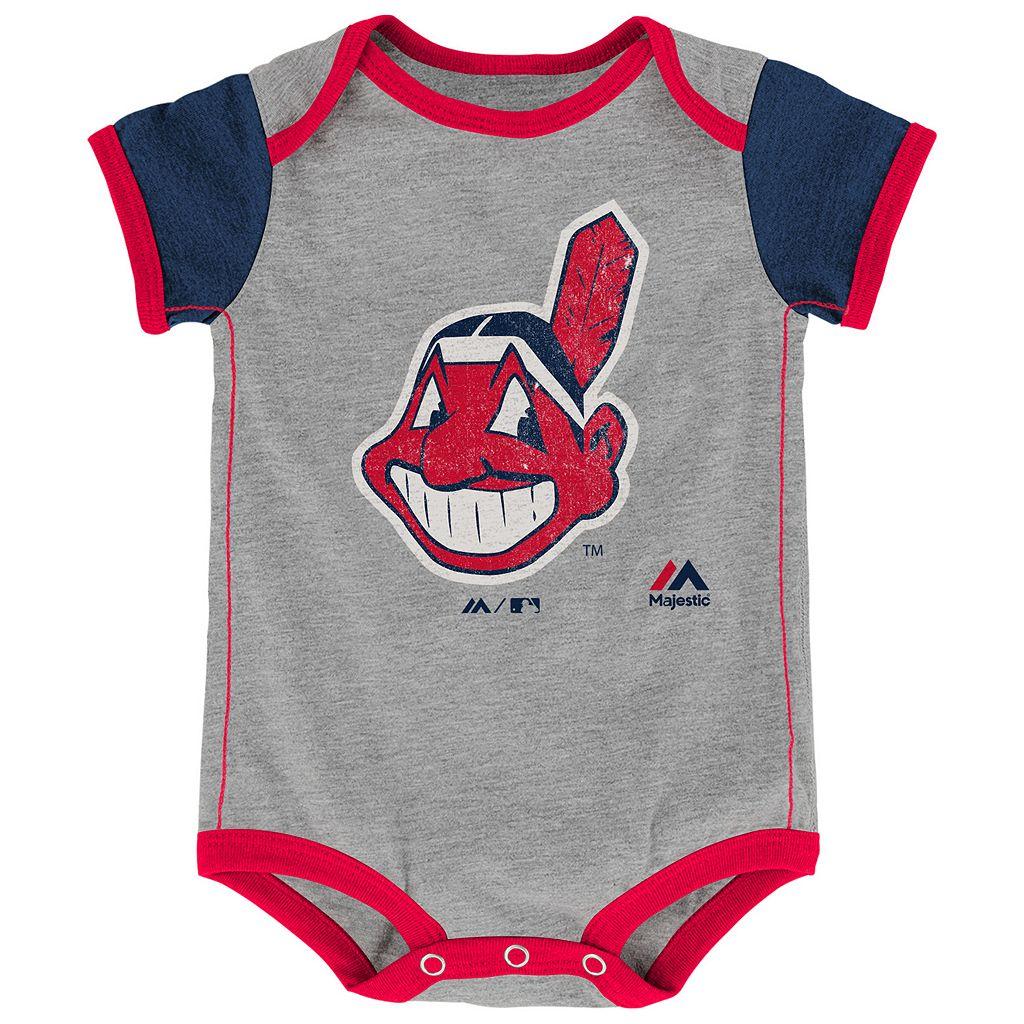 Baby Majestic Cleveland Indians Vintage 2-Pack Bodysuit Set