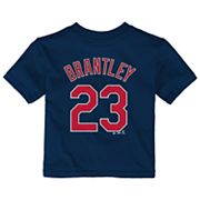 Baby Majestic Cleveland Indians Michael Brantley Name and Number Tee