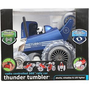 Black Series Monster Spinning Turbo Tumbler RC Toy Car