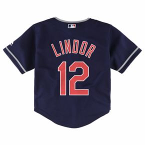 Toddler Majestic Cleveland Indians Francisco Lindor Cool Base Replica Jersey