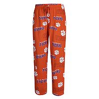 Men's Concepts Sport Clemson Tigers Slide Lounge Pants