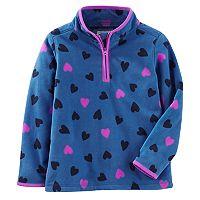 Girls 4-14 OshKosh B'gosh® Heart Pattern Microfleece Half-Zip Pullover