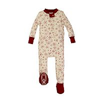 Baby Burt's Bees Baby Organic Holiday Snowflake Footed One-Piece Family Pajamas
