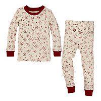 Baby Burt's Bees Baby Organic Snowflake Print Family Pajama Set