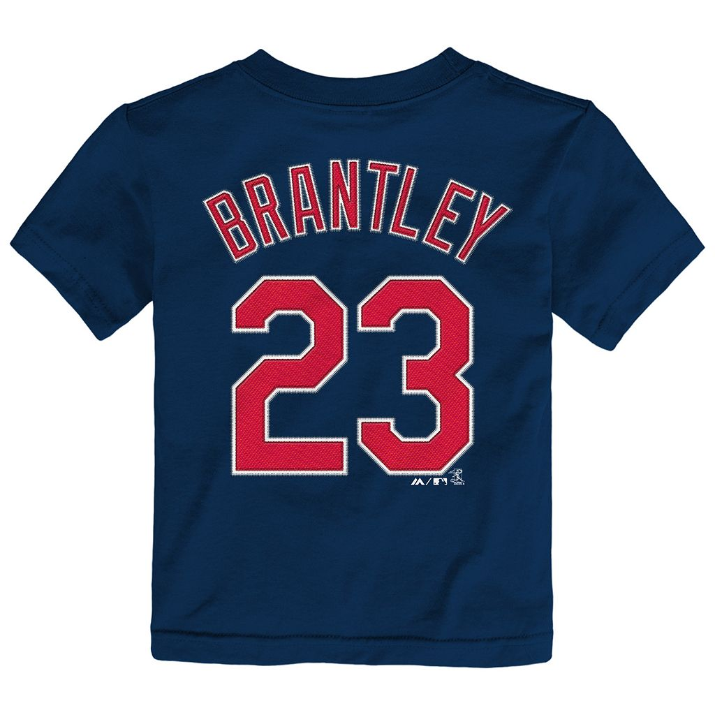 Toddler Majestic Cleveland Indians Michael Brantley Name and Number Tee