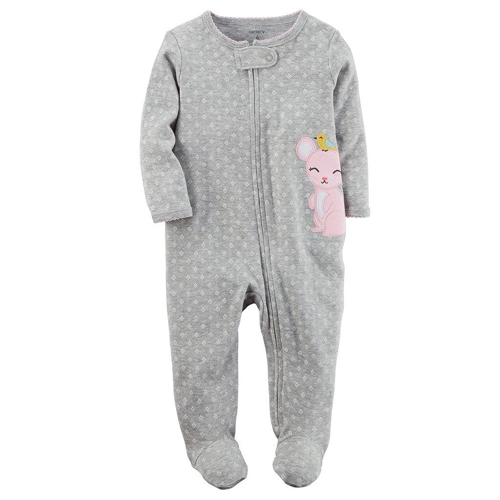 Baby Girl Carter's Embroidered Sleep & Play