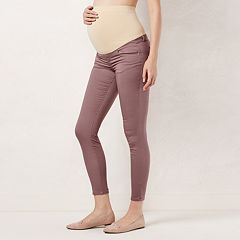 Maternity LC Lauren Conrad Full-Belly Panel Jeggings