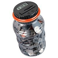 Black Series Digital Counting Money Jar