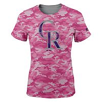 Girls 7-16 Majestic Colorado Rockies Homerun Hero Tee