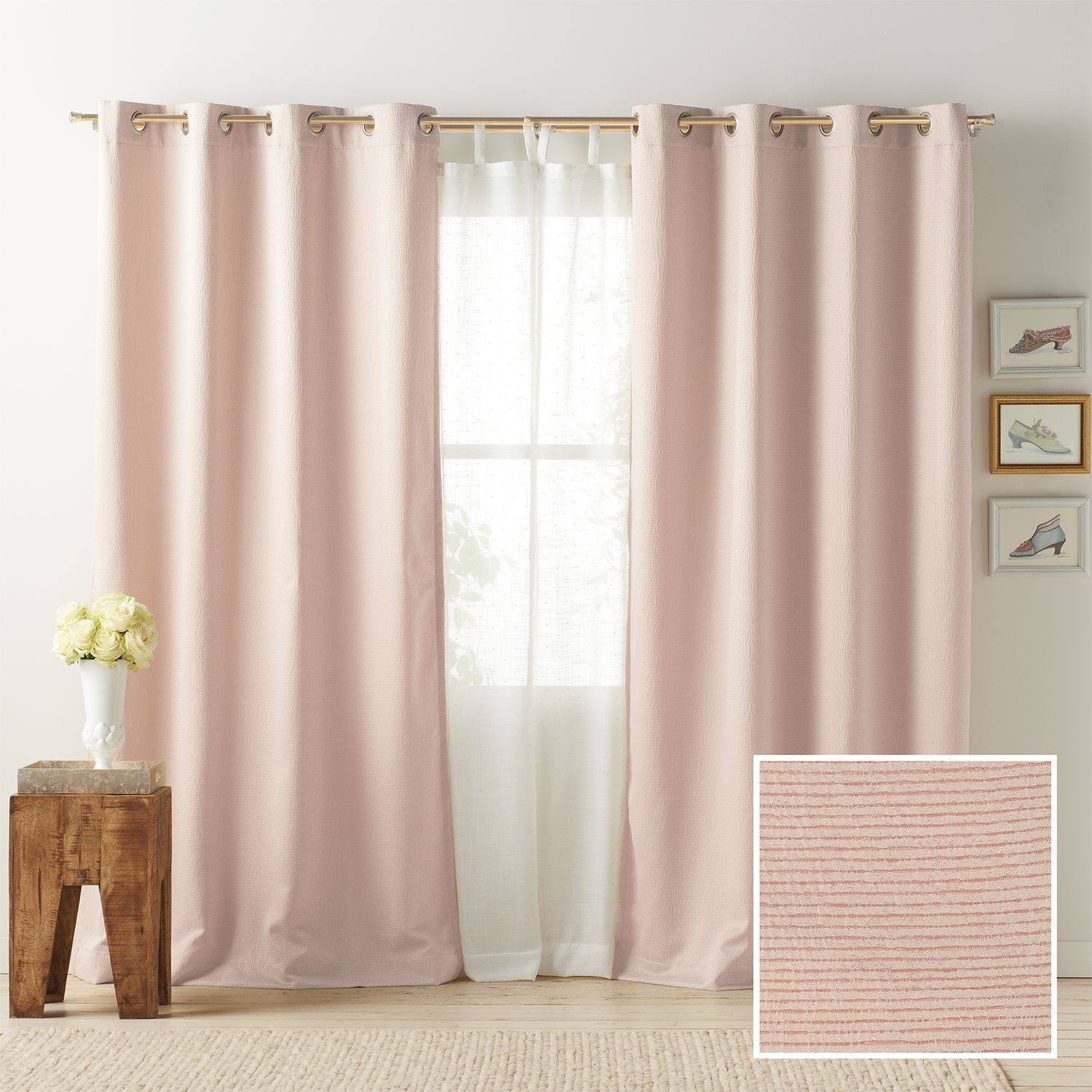 LC Lauren Conrad 1 Panel Antigua Room Darkening Lined Window Curtain