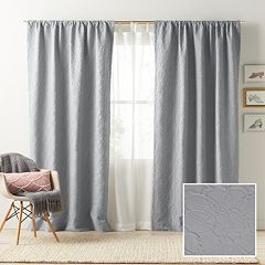 LC Lauren Conrad Blackout 1-Panel Bloomfield Lined Window Curtain