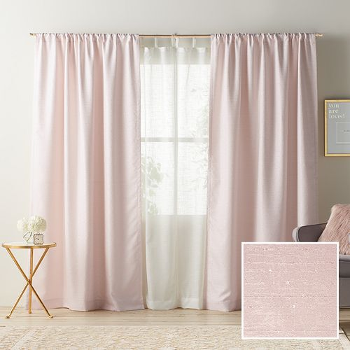 LC Lauren Conrad 1 Panel Twilight Room Darkening Lined Window Curtain