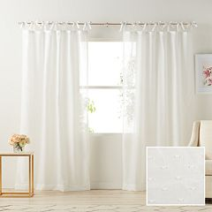 LC Lauren Conrad 1-Panel Gabby Sheer Window Curtain