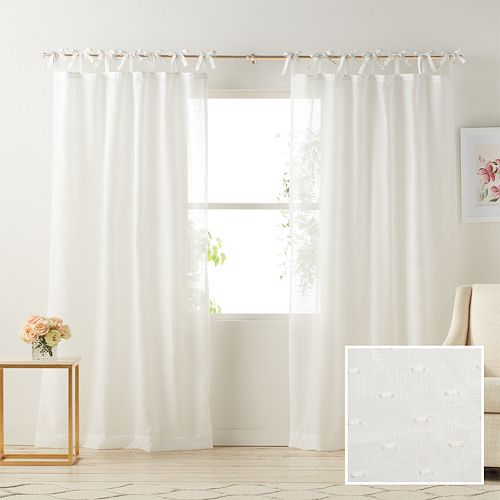 Lc Lauren Conrad 1 Panel Gabby Sheer Window Curtain by Kohl's