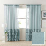 LC Lauren Conrad Kate Ruffle Sheer Curtain