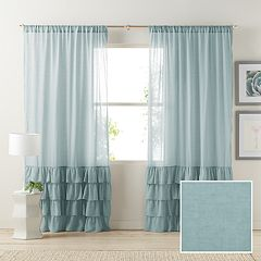 LC Lauren Conrad 1-Panel Kate Ruffle Sheer Curtain