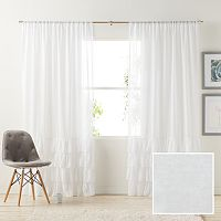 LC Lauren Conrad Kate Ruffle Sheer Curtain