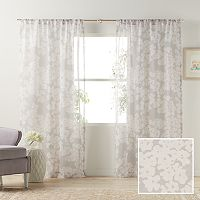 LC Lauren Conrad Pale Blossom Sheer Curtain