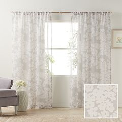 LC Lauren Conrad 1-Panel Pale Blossom Sheer Window Curtain