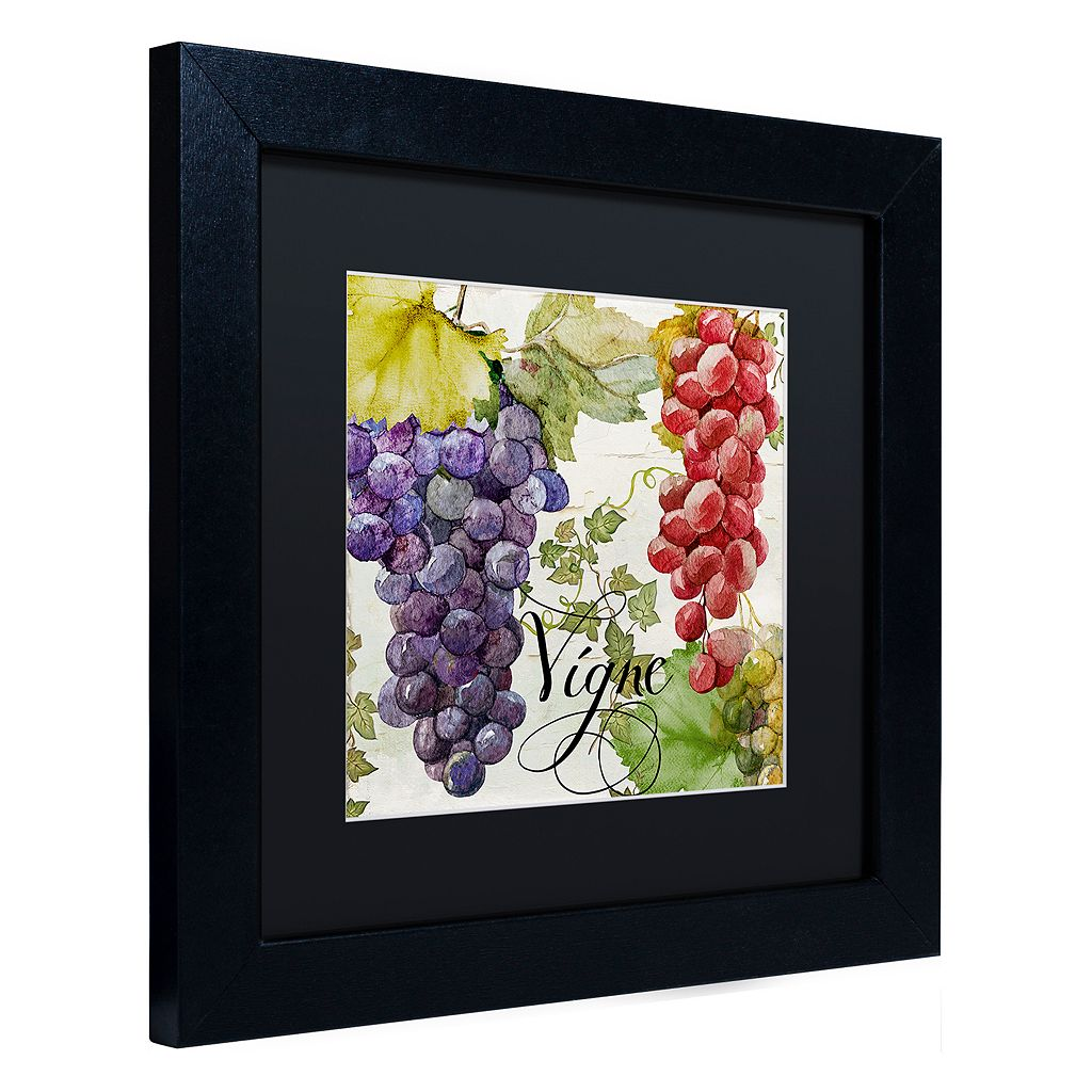 Trademark Fine Art Wines Of Paris I Black Framed Wall Art