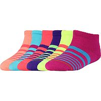 Girls 4-16 Gold Toe 6-pk. Striped Low-Cut Socks