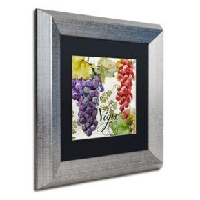 Trademark Fine Art Wines Of Paris I Silver Finish Framed Wall Art