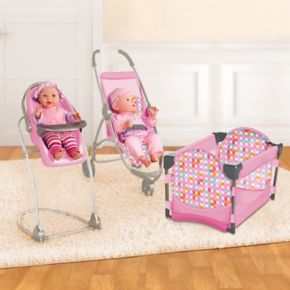 Be My Baby Deluxe Stroller 4-in-1 High Chair and Play Pen Nursery Set