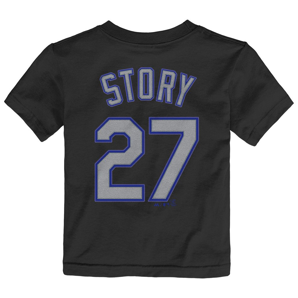 Toddler Majestic Colorado Rockies Trevor Story Name and Number Tee